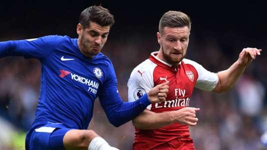 Alvaro Morata Chelsea Shkodran Mustafi Arsenal 17092017