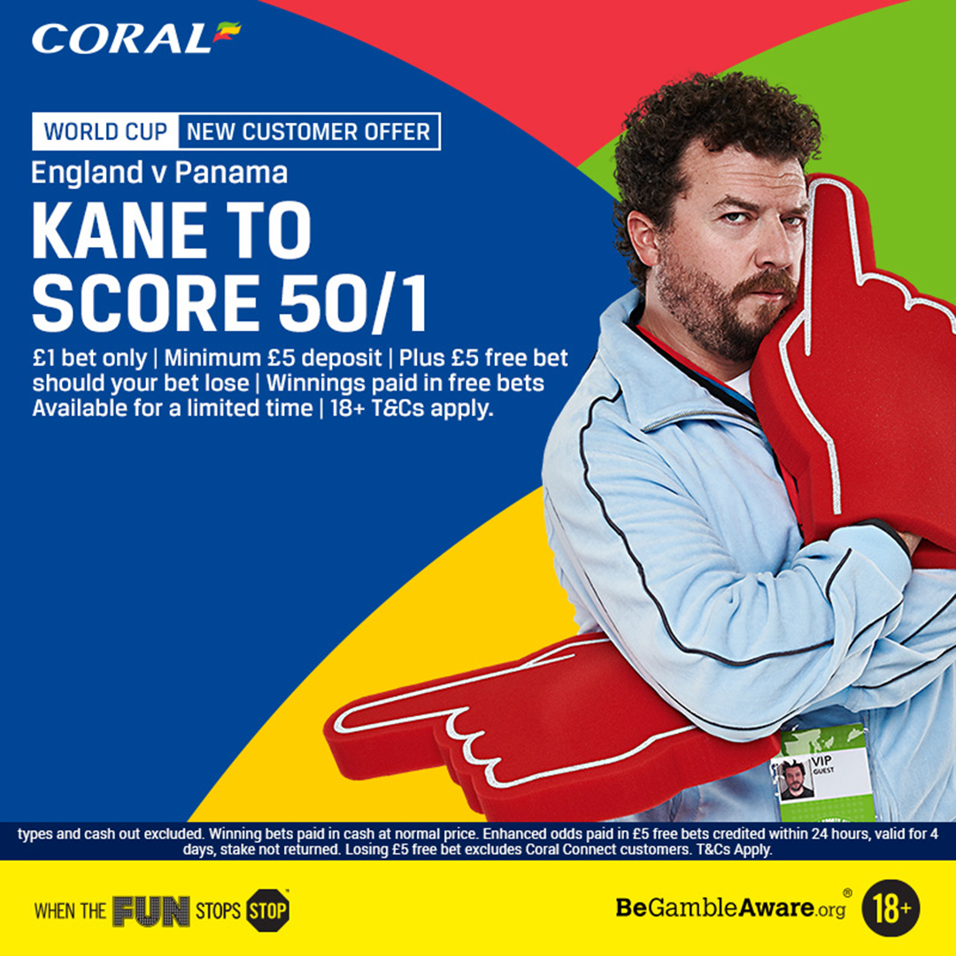 Kane to score anytime - Coral new customer offer