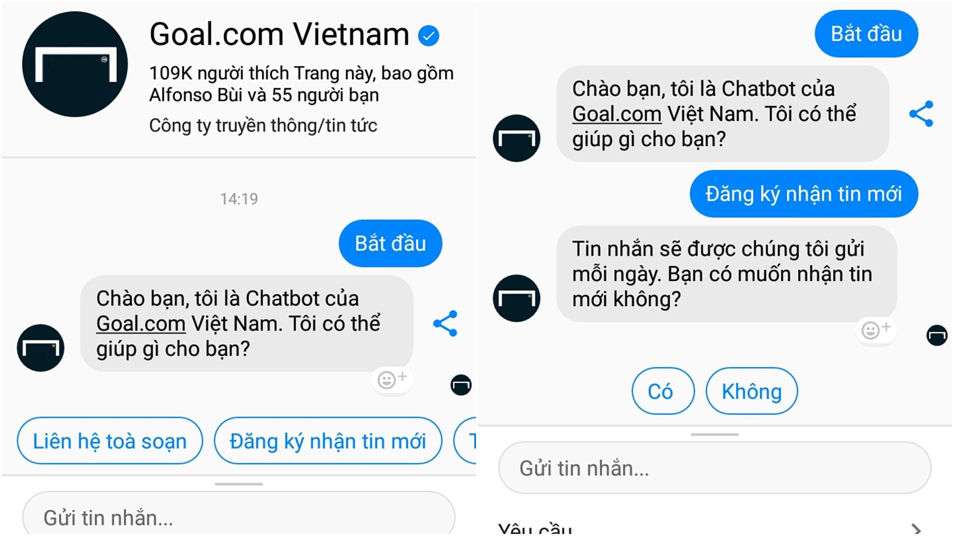 Goal.com Vietnam Chatbot