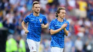 Luka Modric Ivan Rakitic Croatia World Cup 2018
