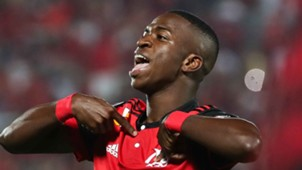 Vinicius Jr Flamengo Palestino Copa Sudamericana 09082017