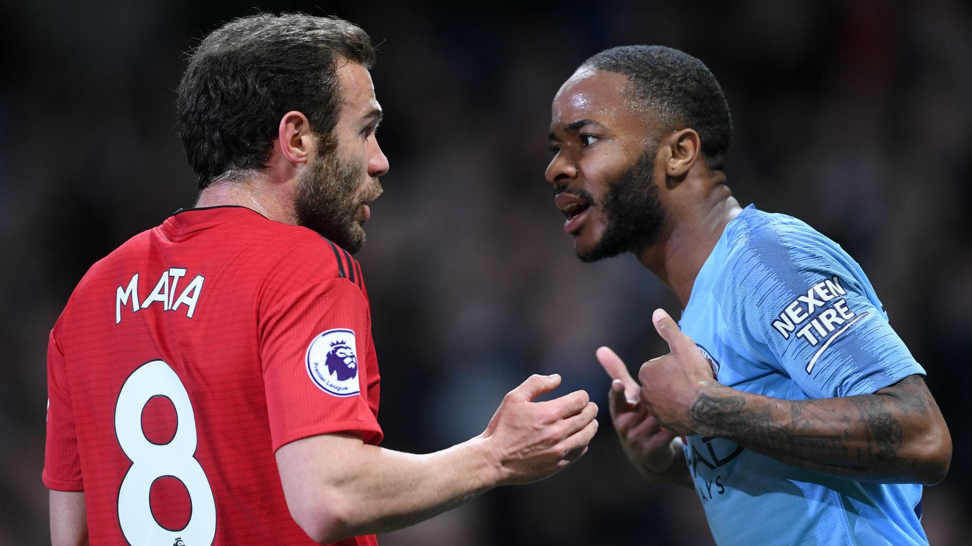 Juan Mata Manchester United Raheem Sterling Manchester City