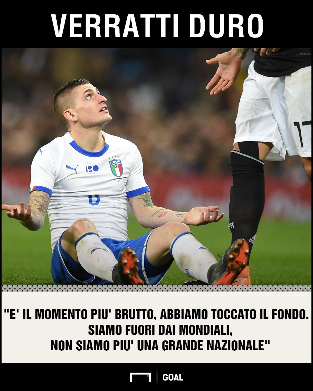 Verratti sul momento dell'Italia PS ita