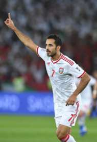 Mabkhout after scoring in the Asian Cup