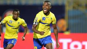 Mbwana Samatta of Tanzania celebrate his goal during the 2019 Africa Cup of Nations Finals match between Kenya