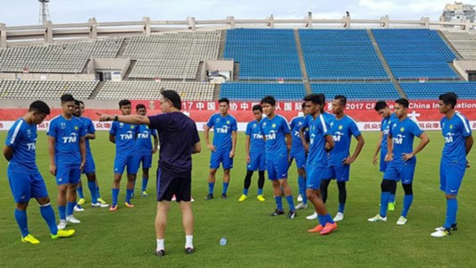 Malaysia U22 training in China