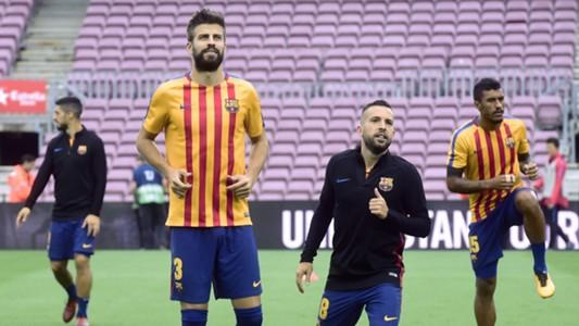 Gerard Pique Jordi Alba Camp Nou Barcelona Las Palmas LALiga 01102017