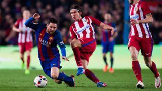 Lionel Messi Filipe Luis Barcelona Atletico Madrid