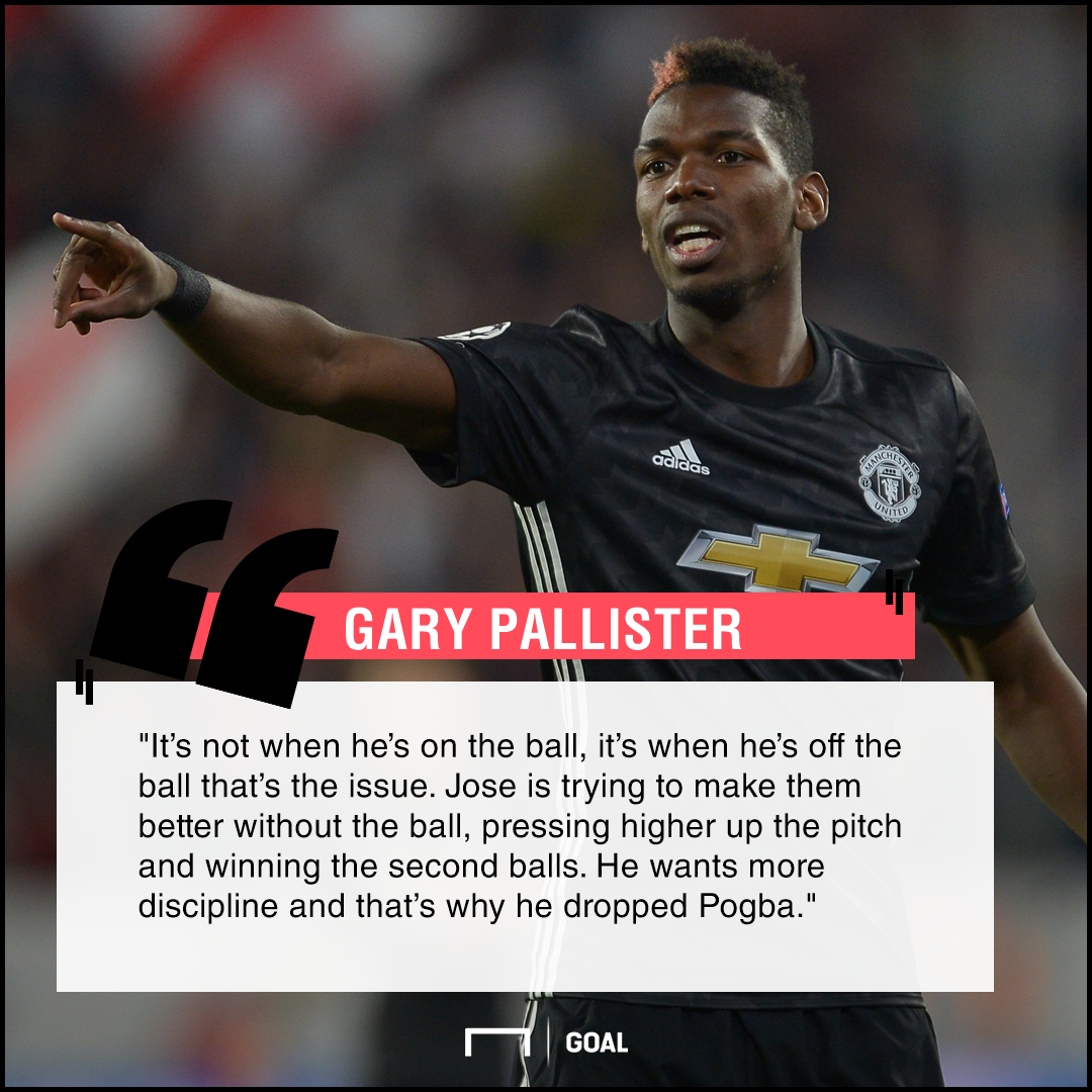 Paul Pogba dropped for lack of discipline Gary Pallister