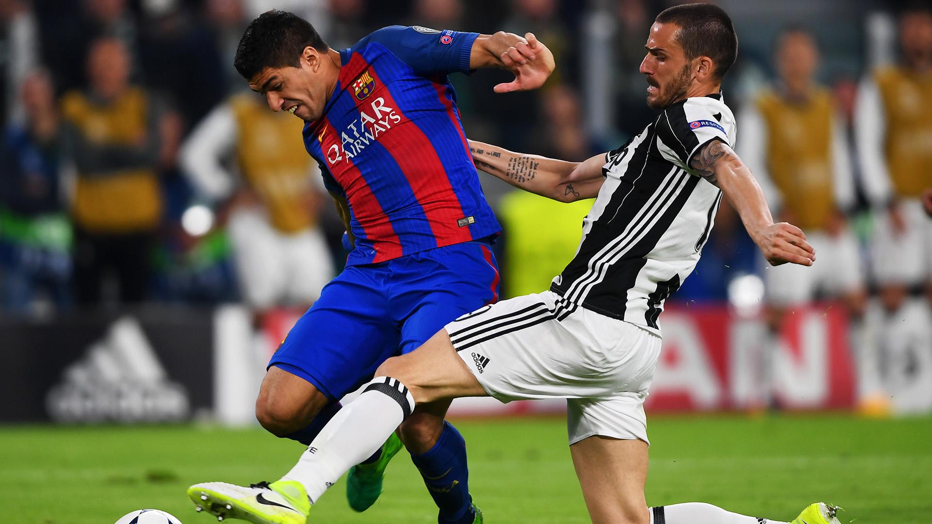 Suarez Bonucci Juventus Barcellona Champions League