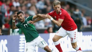 Jesus Manuel Corona Jens Styger Larsen Denmark Mexico international friendly 2018
