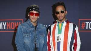 Neymar, Lewis Hamilton