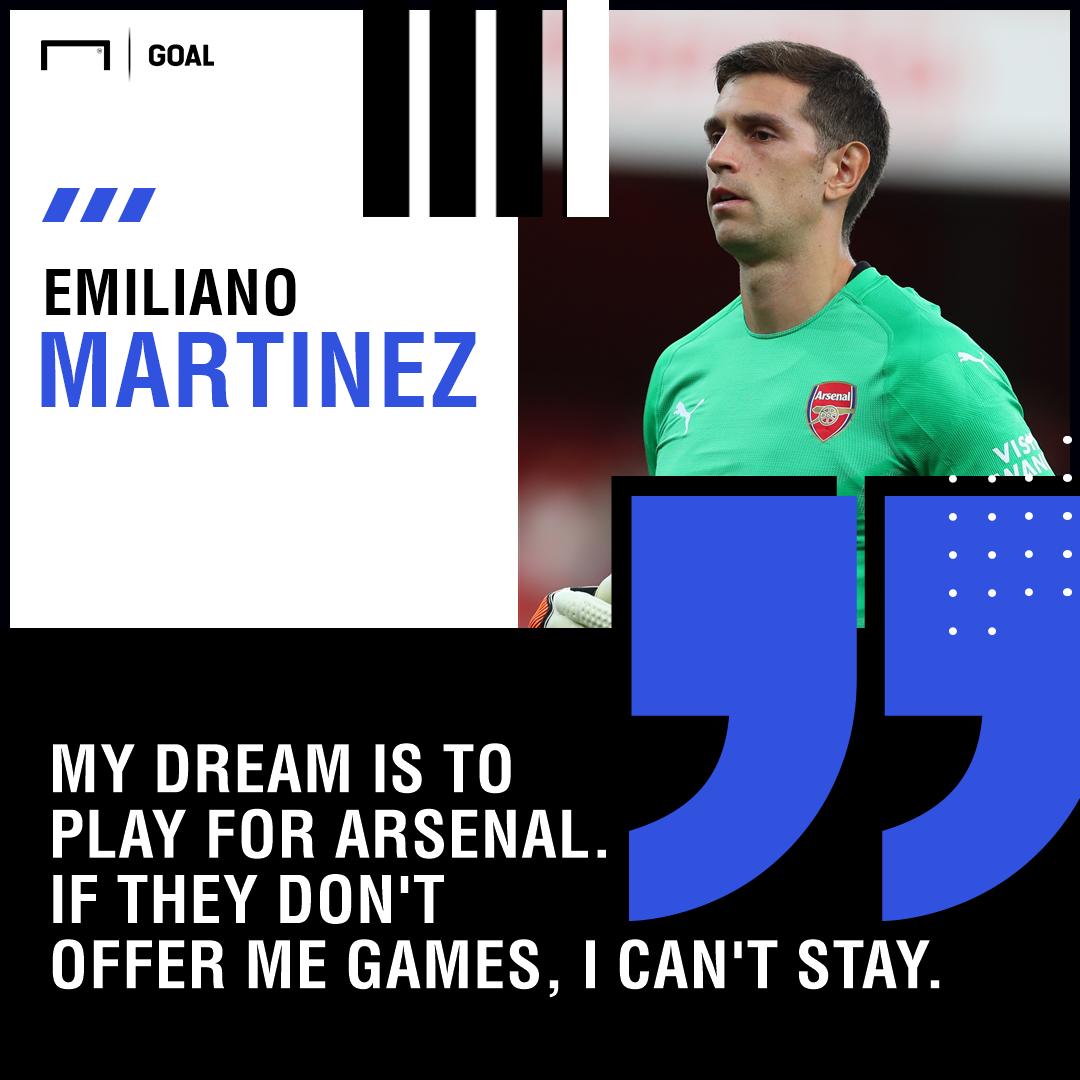 Emiliano Martinez on Arsenal GFX