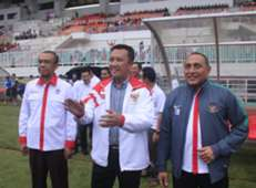 Gatot S. Dewa Broto, Menpora Imam Nahrawi & Ketua Umum PSSI Edy Rahmayadi