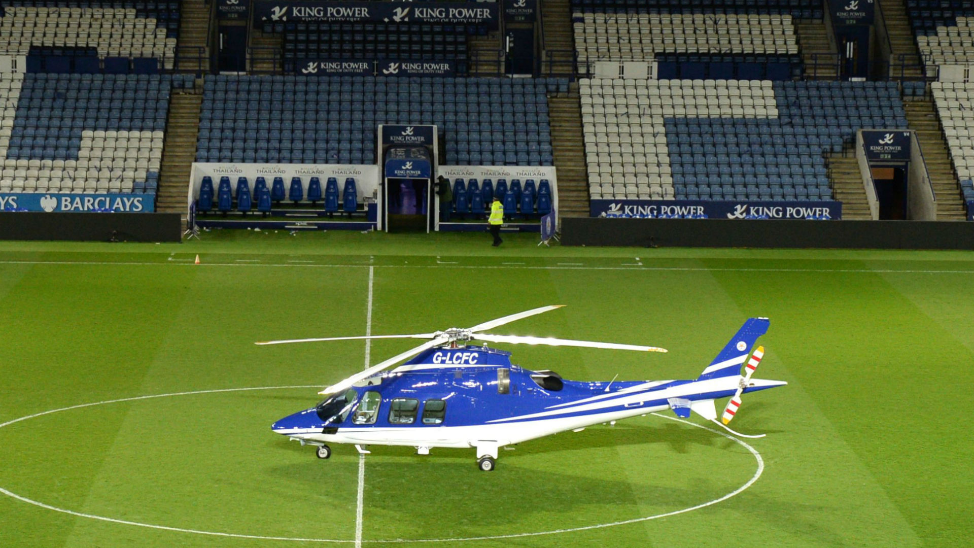 A helicopter reportedly owned by Vichai Srivaddhanaprabha 2015