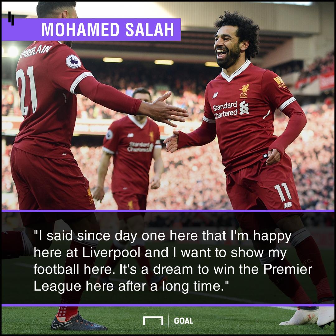 Mohamed Salah happy Premier League title target
