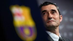 Ernesto Valverde Barcelona unveiling