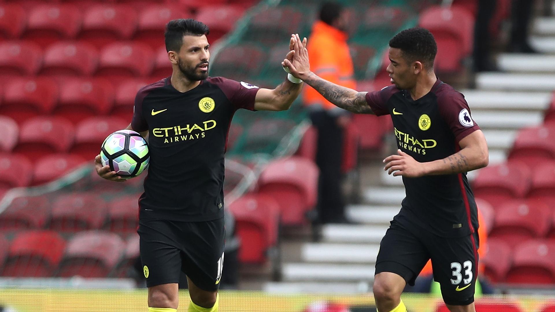 Sergio Aguero Gabriel Jesus Manchester City Boro