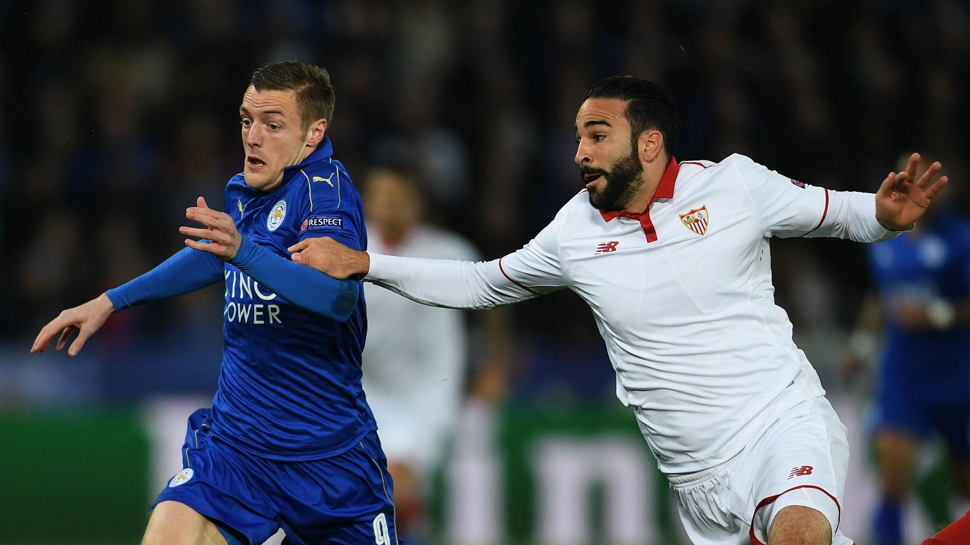 Jamie Vardy Leicester Adil Rami Sevilla