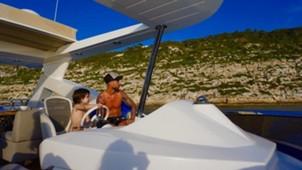 Sergio Ramos en barco