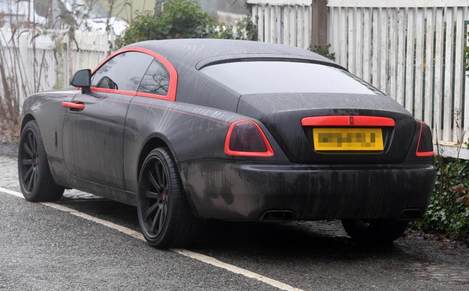 Romelu Lukaku's car Manchester United