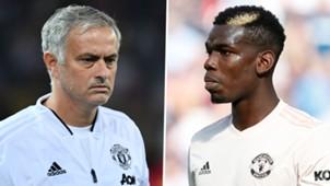 Jose Mourinho Paul Pogba Man Utd 2018-19