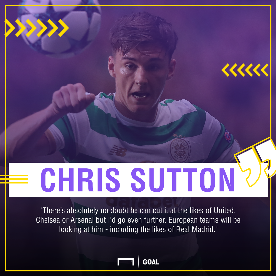 Kieran Tierney Chris Sutton Celtic Real Madrid