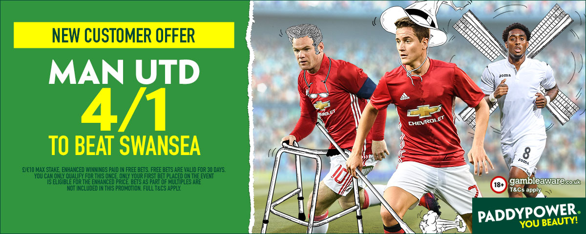 GFX Man Utd Swansea enhanced betting