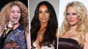 Shakira, Ruby Mae, Pamela Anderson