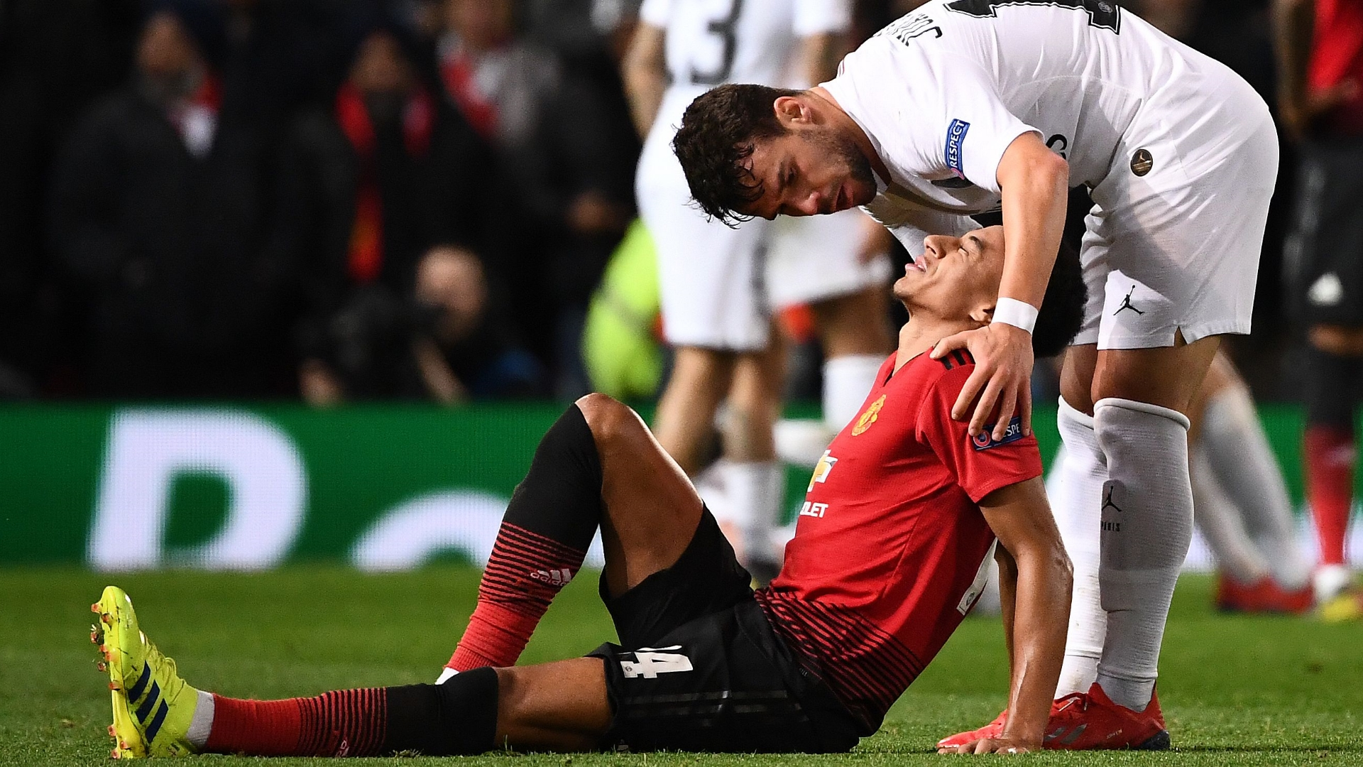 Jesse Lingard, Juan Bernat, Man Utd vs PSG