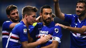Quagliarella Sampdoria celebrating Serie A