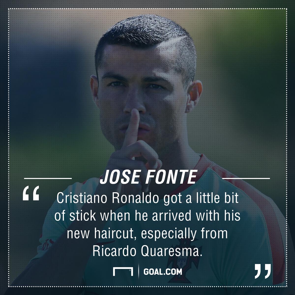 Cristiano Ronaldo Jose Fonte haircut