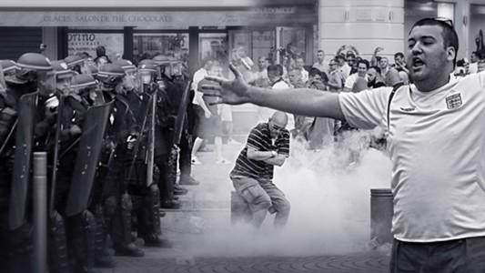 England Russia police hooligans Marseille