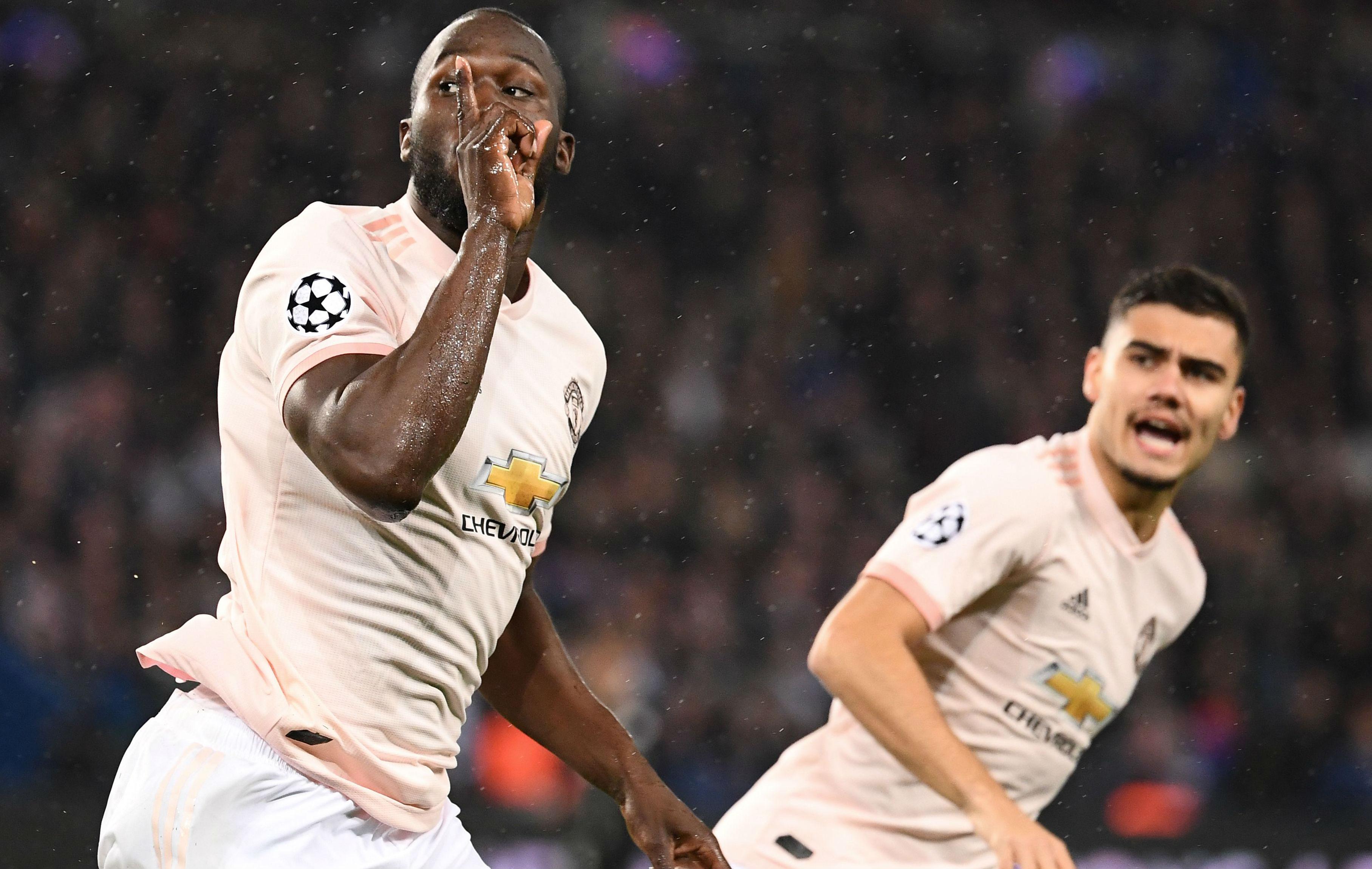 Romelu Lukaku PSG Manchester United UEFA Champions League 06032019