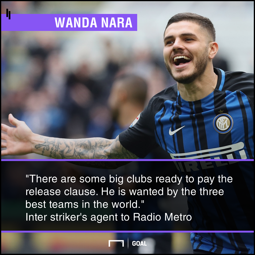 Mauro Icardi top clubs to meet release clause Wanda Nara