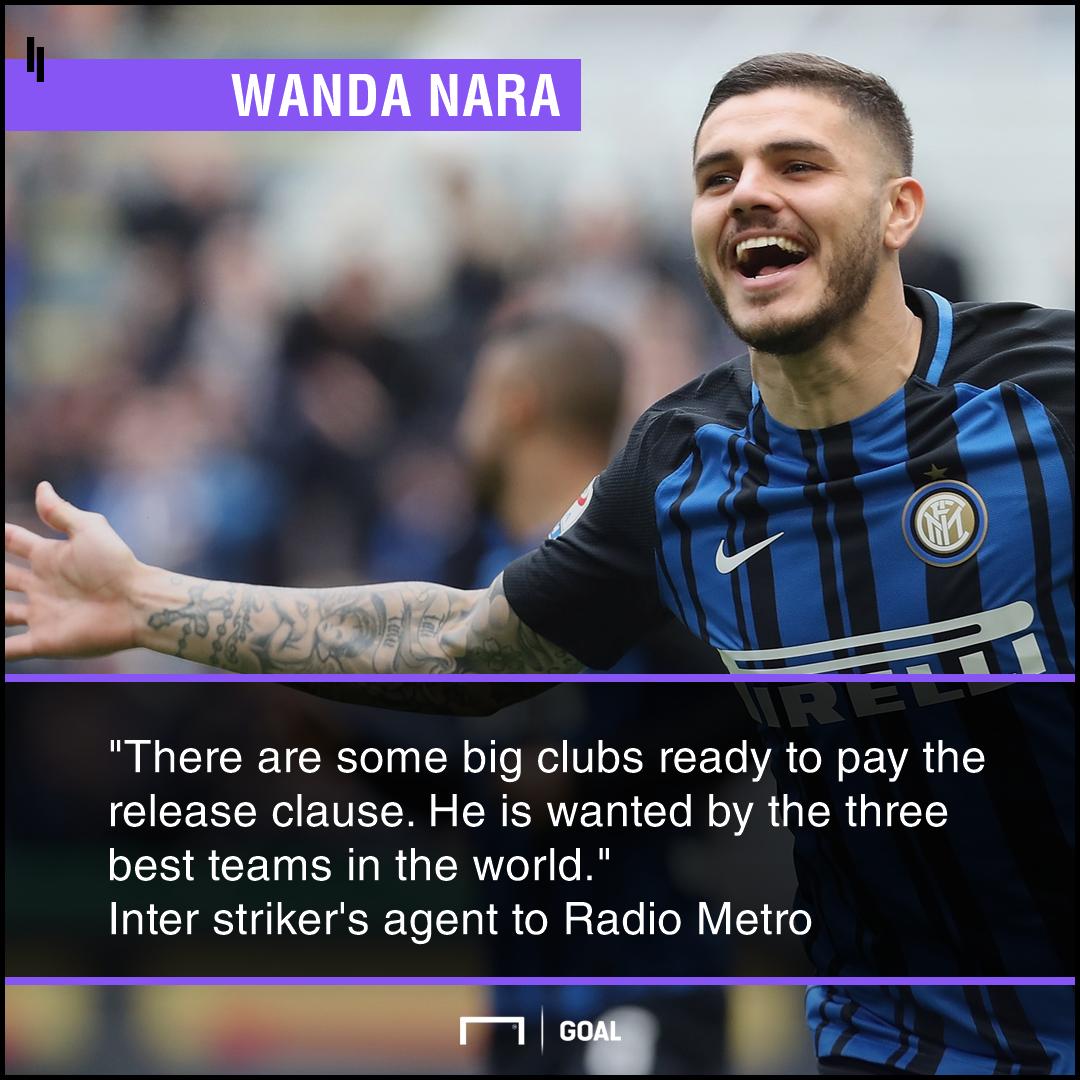 Mauro Icardi top clubs to meet release clause Wanda Nara