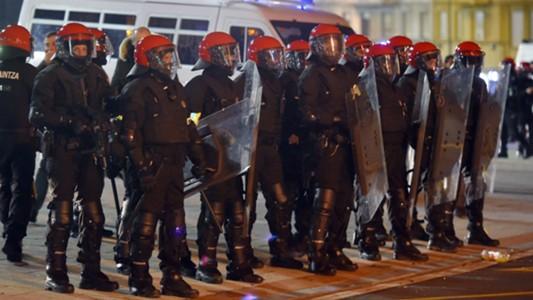 Basque autonomous police officers