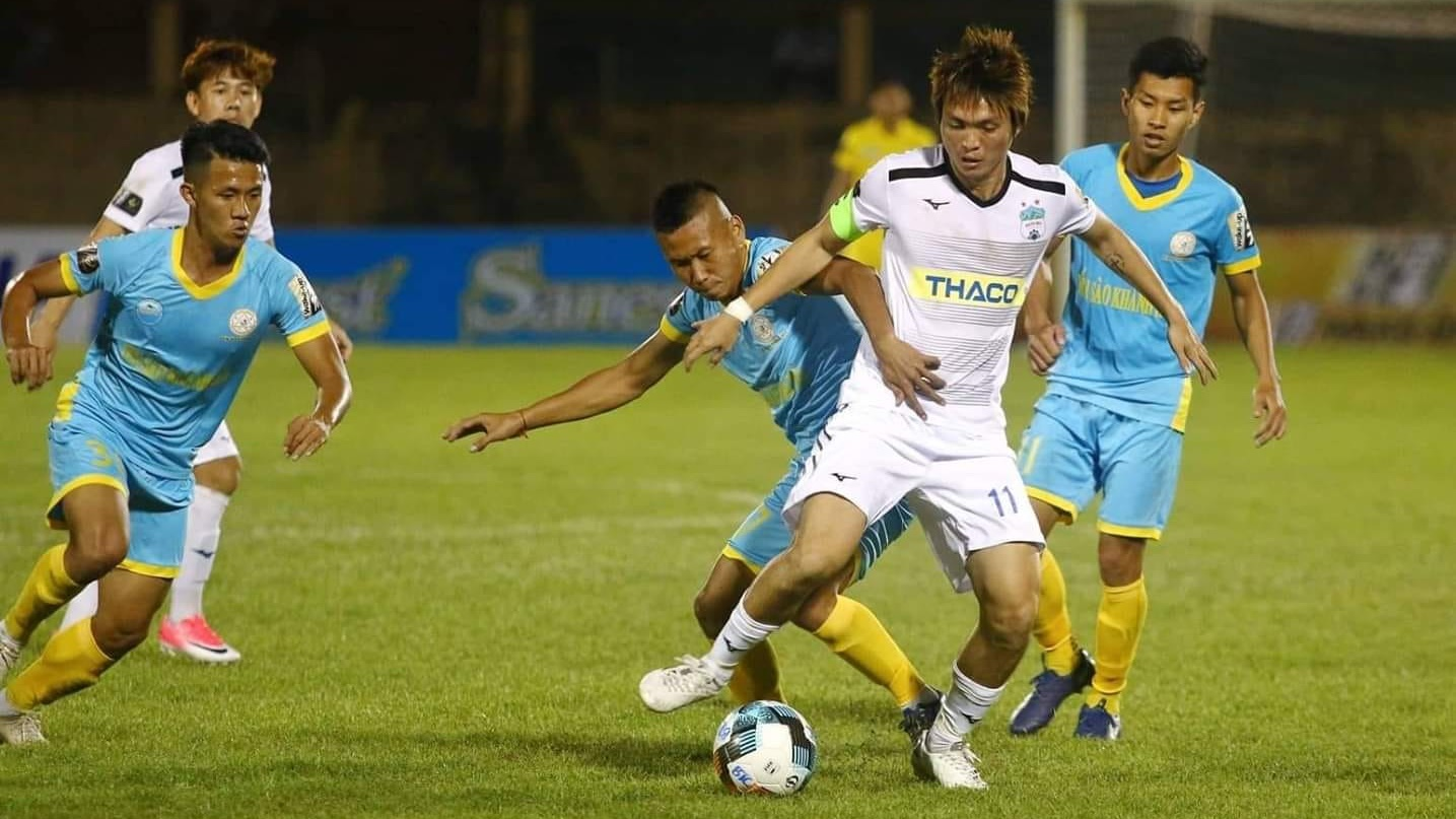 Nguyen Tuan Anh Sanna Khánh Hòa BVN vs HAGL V.League 2019