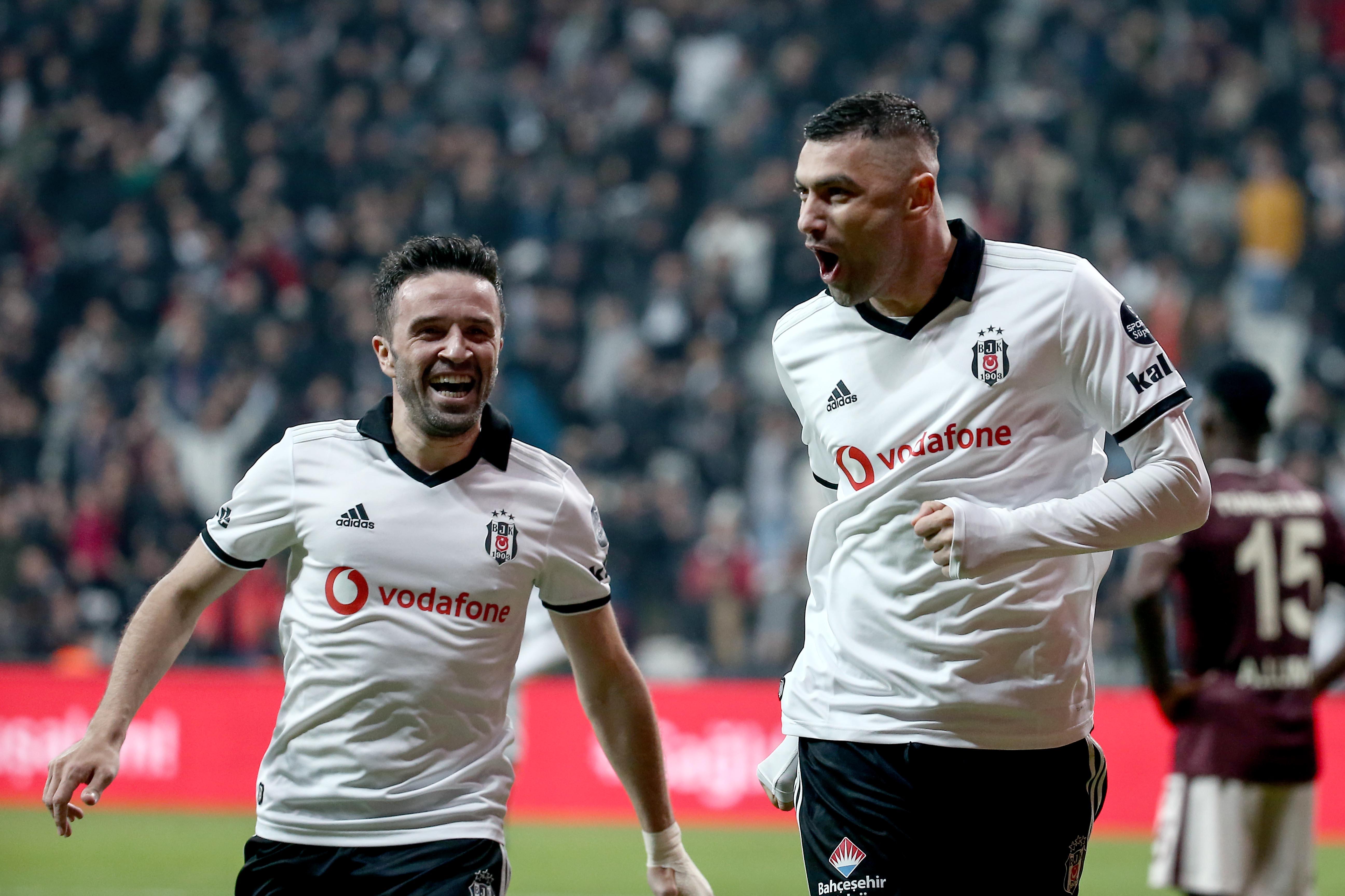 Burak Yilmaz Gokhan Gonul Besiktas Goztepe Turkish Super League 03/16/19