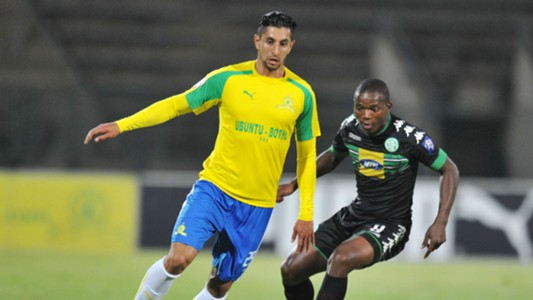 Leonardo Castro of Sundowns against Bloem Celtic