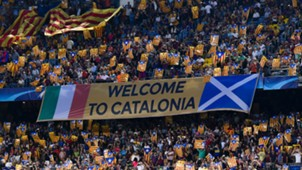 Camp Nou Barcelona Catalan flags