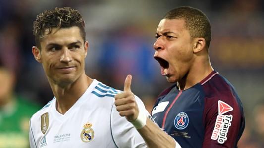 Cristiano Ronaldo Kylian Mbappe Real Madrid PSG 2017-18