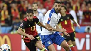 Hazard Barzagli Belgium Italy Euro 2016