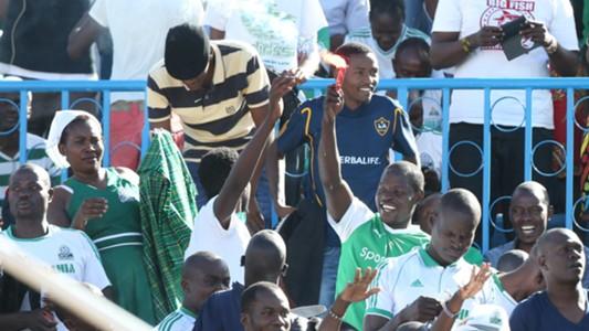 Gor Mahia fans at Nyayo stadium.