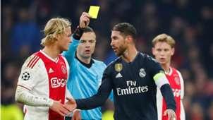 Kasper Dolberg, Sergio Ramos, Ajax - Real Madrid 02132019
