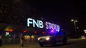 Emergency service marshals and vehicles leave from the FNB stadium Kaizer Chiefs Orlando Pirates 07292017