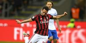 Hakan Calhanoglu Milan Sampdoria Serie A