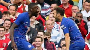 Antonio Rudiger Cesc Fabregas Chelsea 2018-19