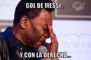 Meme Pelé Messi