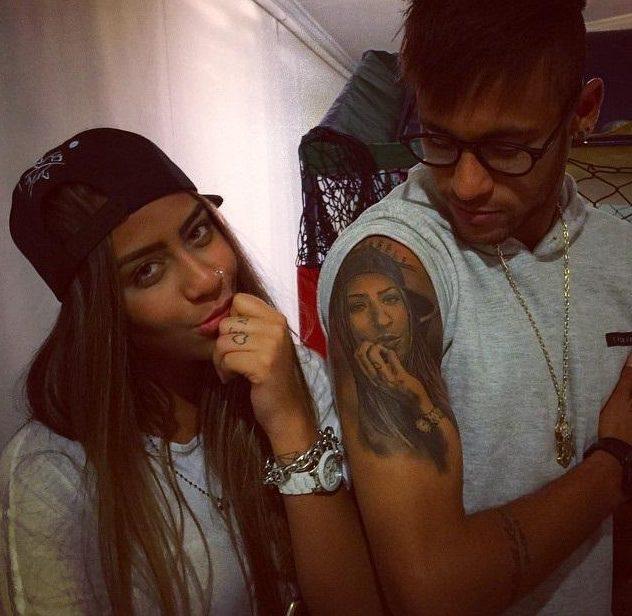neymar sister tattoo